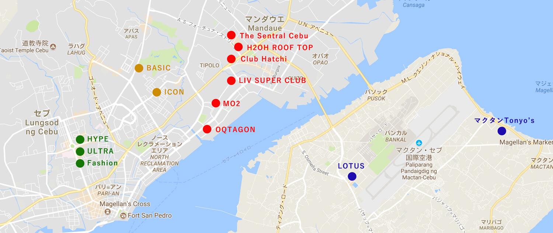 セブクラブマップ