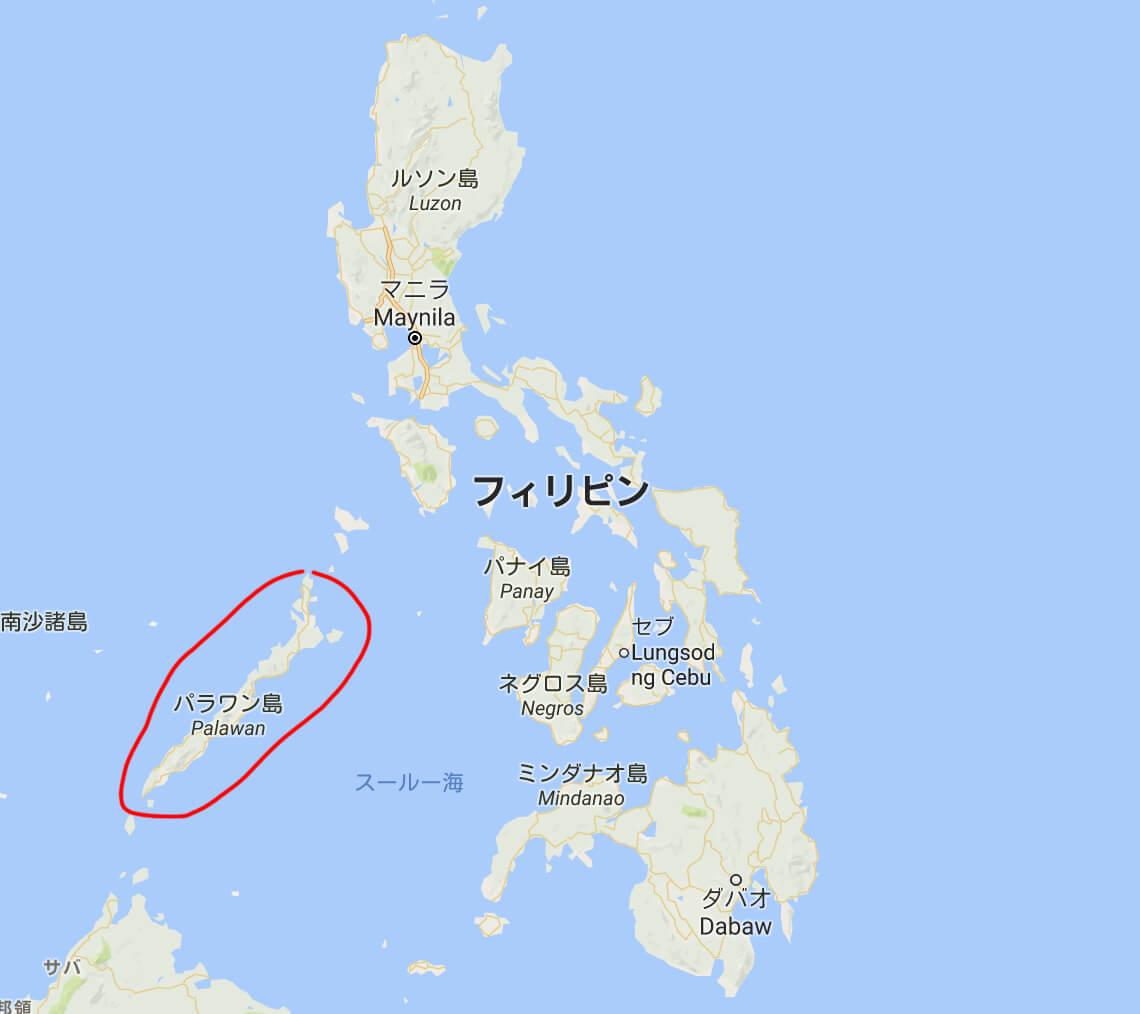 パラワン地図