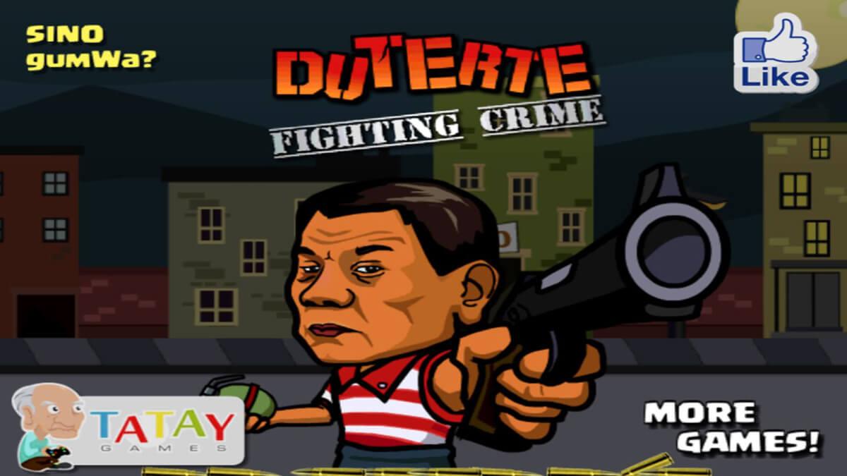 フィリピンのゲーム会社が作ったドゥテルテ大統領がチンピラを撃ちまくるシューティングゲームをやってみた。