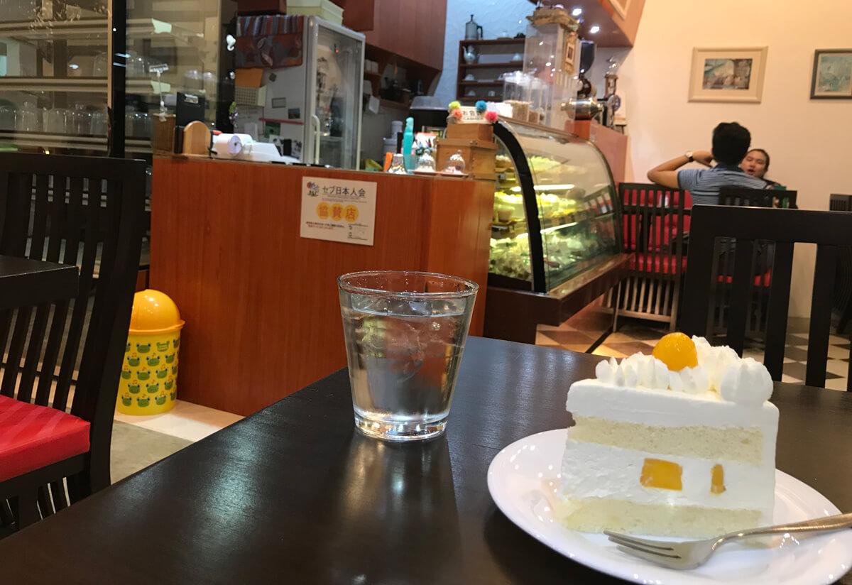 セブで日本のケーキ