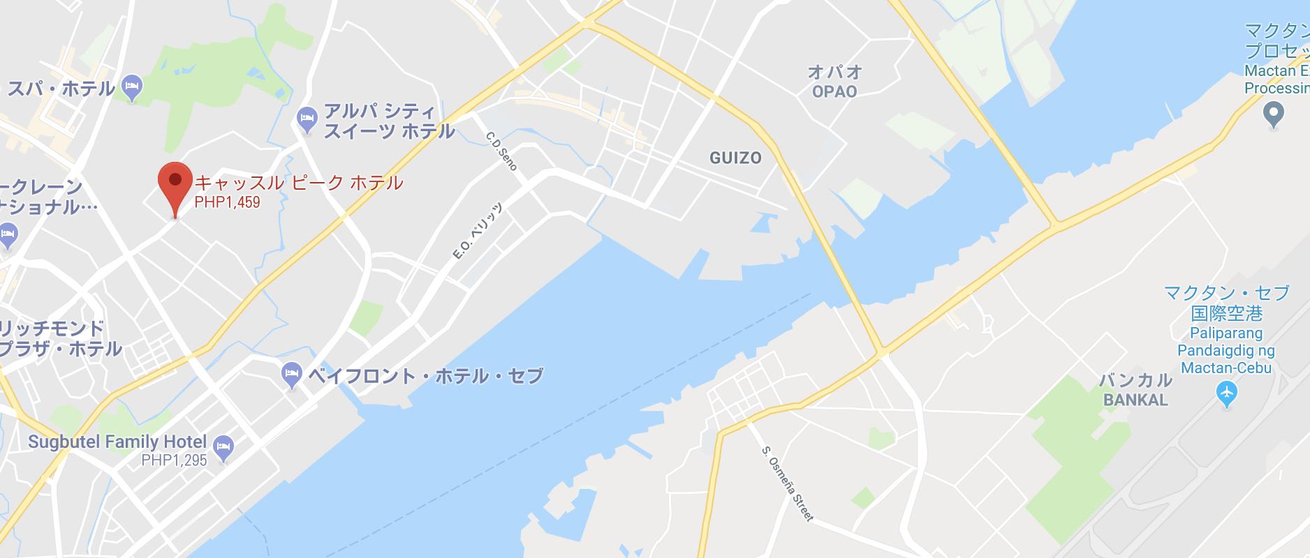地図キャッスルピーク